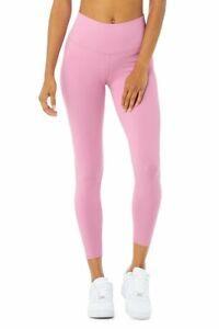 NEW - ALO YOGA Women's 'AIRBRUSH' Parisian Pink 7/8 HIGH-WAIST LEGGING - M