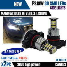 x2 30SMD AUDI A3 LED XENON WHITE DRL SIDELIGHT BULBS PS19W H16 SUPER BRIGHT