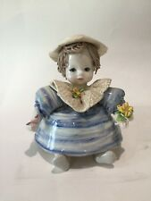 Spaghetti Hair Little Girl Doll Figurine,Pre-owned in good condition