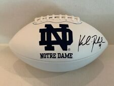 Kyle Rudolph Signed Notre Dame Full Size White Panel Football COA Holo