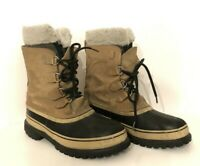 SOREL SNOW BOOTS MENS SZ 10 CARIBOU WATERPROOF -40° WINTER REMOVABLE LINERS