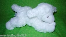 White Baby Gund WINKY LAMB Baby Sheep Rattle Plush Stuffed Animal Toy
