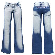 Denim Girls blue jeans w28-gr.36 bootcut pantalones golpe señora Teens chica nº 3
