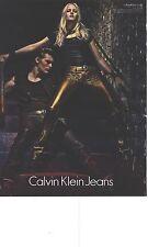 PUBLICITE ADVERTISING 2012  CALVIN KLEIN JEANS tendences cuivrées hiver