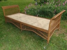 Antique Lloyd Looms Wicker Chaise Lounge Daybed