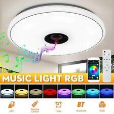 72W Dimmbar RGB LED Deckenleuchte Lampe Musik bluetooth Lautsprecher APP Remote