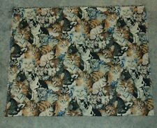 Tapestry Fabric Piece Cats 36 Inches by 57 Inches