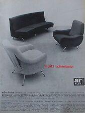 PUBLICITE ARFLEX FAUTEUIL CANAPE CHAISE DE 1959 FRENCH AD ADVERT PUB VINTAGE