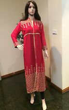 "42"" L-XL Kurti Jeans Top Tunic Kaftan Bollywood Indian Kurthy Rusty Red K25"
