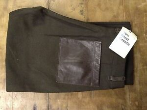 '' you must create'' womens green trousers  size 10 34L