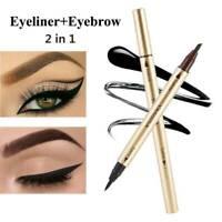 YANQINA Double-Head Liquid Eye Liner Pen Pencil Black Waterproof Eyeliner Makeup