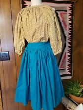 Civil War Era Reproduction Girl's Size Medium 6-8 Skirt and Gathered Blouse