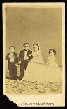 Antique CDV Photo Midget Tom Thumb Wedding Mathew 1860's