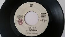 "George Harrison ""THIS SONG"" ITALY JUKE BOX PROMO 7"" Beatles"