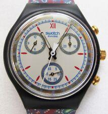 SWATCH WATCH CHRONO SCB 108 AWARD 1991 MINT. WITH BOX & GARANTIE