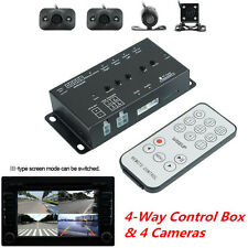 360° Full Parking View Front/Rear/Right/Left DVR Video Monitoring 4 Cameras &Box