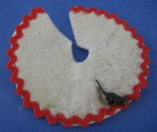 Dollhouse Miniature Christmas Tree Skirt Vintage