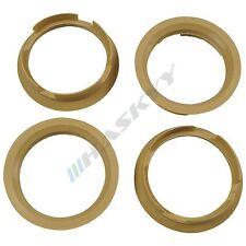 4 anillos de centrado 63,4-56,6 Beige Llantas Opel FIAT CHEVROLET DAEWOO