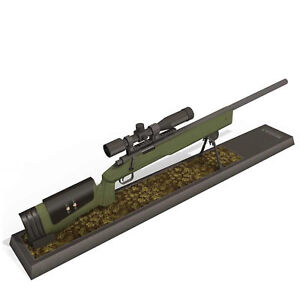 DIY 1:3 Scale 3D Paper Model M40A3 Sniper Rifle Gun Weapon Puzzle Military Gift