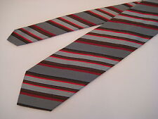Berend DeWitt Italy 100% Silk Neck Tie -  Silver/Red/Brown/Navy from Syd Jerome