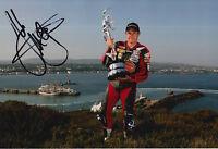 John McGuinness Hand Signed 12x8 Photo HM Plant Honda Isle of Man TT.
