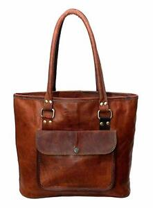 Women's Vintage Handmade Genuine Leather Lady Shoulder Bag Handbag Tote Purse