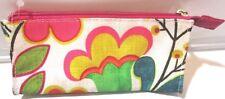 Clinque Makeup Toiletries Bag Floral Pattern.