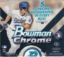 2015 Bowman Chrome Baseball Jumbo Box Factory Sealed 5 Autos