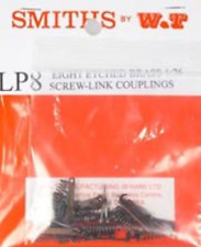Smiths LP8 Couplings Eight Etched Brass Screw Link Couplings Kit Form