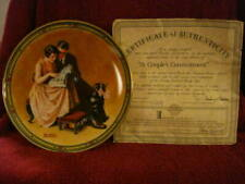 """Knowles Limited Edition """"A Couple's Commitment"""" Norman Rockwell Plate (#14973L)"""