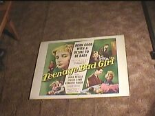 TEENAGE BAD GIRL 1957 HALF SHEET 22X28 MOVIE POSTER EXPLOITATION