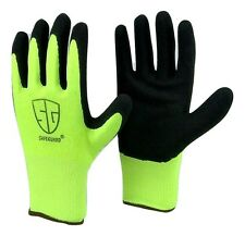 12 pairs wholesale Safeguard Black latex coated Hiv nylon extra Grip glove Large