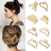Party Bun Maker Hairpins Hair Jaw Clip Geometric Metal Claw Clips Crab Barrette