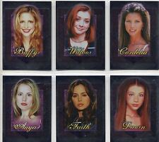 Buffy TVS Men Of Sunnydale Complete Women Men Adore Chase Card Set WA1-6