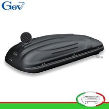 Gev S9196 - BOX BAULE UNIVERSALE PORTABAGAGLI AUTO SCOUT 460 LT NERO OPACO