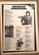 POLICE LEO SAYER REVILLOS 'songs' 1979 ARTICLE / clipping