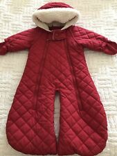 Hanna Andersson  Red One Size Infant Snowsuit Bunting Convertible Quilted