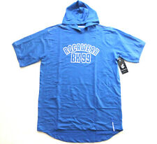 Rocawear Big & Tall Mens Size 3XB Bright Blue Hooded Logo Graphic T Shirt New