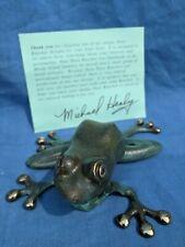 """Michael Healy Frog Door Knocker Solid Brass """"AP"""""""