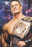 John Cena Autograph Pre Print Wrestling Photo 8x6 Inch Hologram & Number