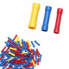 Lot Electrical Automotive Cable Wire Butt Connector Insulated Crimp Terminal
