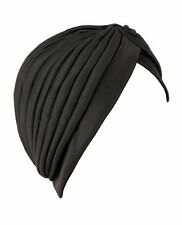 WOMAN STRETCHABLE TURBAN HAT BLACK