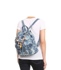 Montmartre Paris Distressed Blue Jean Travel Backpack with(detachable) charms!