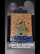 TOKYO DISNEY~RARE~VHTF~CINDERELLA CASTLE STAINED GLASS~25th AN PIN CM EXC LE 500