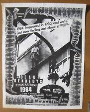 DEAD KENNEDYS Starlite Ballroom 1984 Concert POSTER Punk Butthole Surfers TSOL