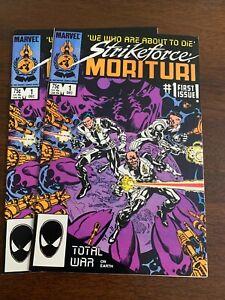 Strikeforce: Morituri #1 (Dec 1986, Marvel) LOT OF 2 VF and NM