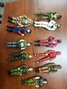 Gi Joe Action Figure Collection Lot 1980s