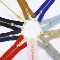 20/30/40/50/60/70CM Gold Teeth Zipper Metal Sewing Zip Clothing Accessories DIY