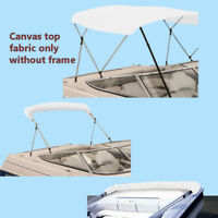 "Bimini Top Boat Cover Canvas Fabric White with Boot Fits 3 Bow 72""L 61""- 66""W"