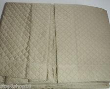 Sferra BARI Tailored Bed Skirt King TAUPE 3 Panel Diamond Pique Egypt Cotton New